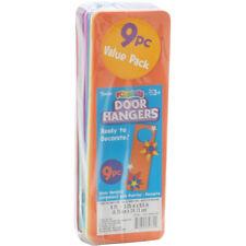 Foam Door Hangers 9/Pkg-Assorted Colors, 1022-89
