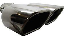 Twin Square Stainless Steel Exhaust Trim Tip Suzuki Alto 1998-2016