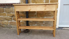 H80 W100 D20cm BESPOKE WARM OAK WAXED CONSOLE HALL TELEPHONE SHOE TABLE 2 SHELF