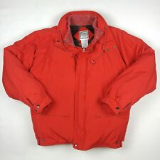 HARDY AMIES LONDON Mens Down Coat Jacket Red Plaid Lining Size L