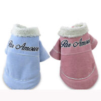 Winter Dog Overcoat Warm Pet Clothes Hoodie Small Cat Puppy Jacket Outfit Coat