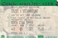 Ticket - Celtic v St Johnstone 25.10.97