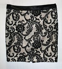 Portmans Brand Black Lace Straight Skirt Size 14 BNWT #TQ65