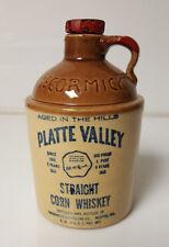 Platte Valley Corn Whisky McCormick  c1966 Crock Jug Empty