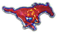 southern methodist mustangs red reflective doomed logo vinyl decal usa made