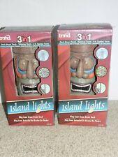 Bond Island Lights King Luau Stone Resin Torch Set of 2 Garden Torch 4ft