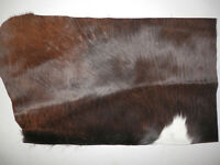 """Tri Colored Hair On Cowhide HOH Leather 9.5""""x15"""" avg 1.2mm thick #8886"""