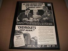 1940 CHEVROLET MASTER 85 BUSINESS COUPE ORIGINAL VINTAGE PRINT AD  COLLECTIBLE