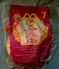 TY Teenie Beanie Baby Strut Rooster McDonalds #7 1999