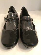 Ecco Patent Leather Mary Jane Flats Black Sz 41