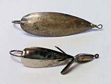 2 Vtg Fishing Lures Johnson's Silver Minnow Spoon & Johnny Oneil's Weed Wing #2