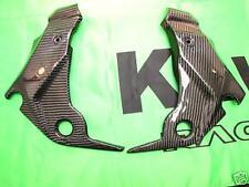 Kawasaki ER6 N 2009 Echt Carbon Seitenteile Rahmen NEU 28533307