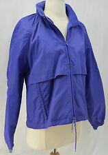 Eddie Bauer Nylon jacket packable hood coat windbreaker rain wear Short SZ M NEW