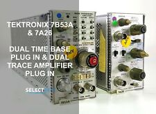 2 Tektronix Modules 7a26 Dual Trace Amplifier Amp 7b53a Dual Time Base Ref G