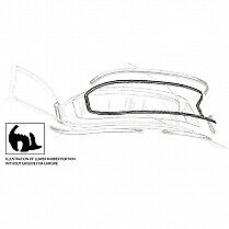 1955 1956 Ford Mainline Sedan and coupe rear glass seal (NEW)