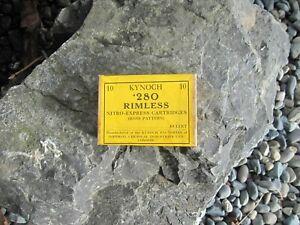 Kynoch .280 Rimless Nitro-Express Cartridges ( Ross Pattern ) - Rare