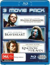 Master and Commander / Braveheart / Kingdom of Heaven  - BLU-RAY - NEW Region B