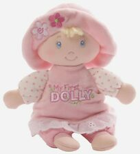 Baby Rattle by GUND My First Dolly Small Blonde Plush Soft Toy (4053916) NEW