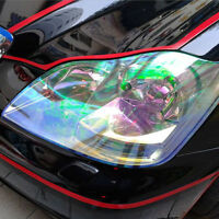 1x Transparent Chameleon Car Headlight Tail Light Tint Film Sticker 30cm x 120cm