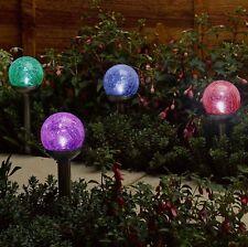 12 X colore modifica solare LED Luce a Sfera Crackle Ghiaccio Orb Globe in acciaio inox