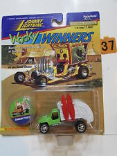 JOHNNY  LIGHTNING WACKY WINNERS SERIES 1 GARBAGE TRUCK WHITE