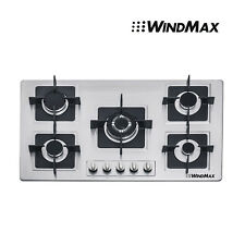 35.5'' Stainless Steel Built-in 5 Burners Gas Cooktop LPG NG Gas Hob Fix Cooker