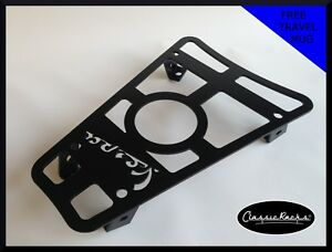 Vespa GTS GT GTV floor board rack CUP HOLDER- satin black CLASSIC RACKS