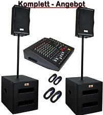 DJ PA Musikanlage BANDANLAGE komplett ANLAGE 5600 WATT max. Powermixer 6 Kanal
