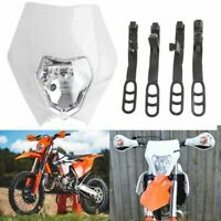 WHITE NEW KTM Style Rec Reg Head Light PIT Trail Dirt Motrocycle Motorcross Bike
