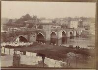 Ville A Identificare Francia Foto Amateur Vintage di Carta Citrato Ca 1900