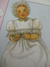 McCalls 3063 CHRISTENING BAPTISMAL GOWN Sewing Pattern Baby Newborn-Large