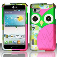 For LG Optimus F3 LS720 MS659 Rubberized HARD Case Snap Phone Cover Accessory