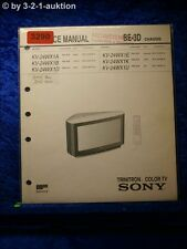 Sony Service Manual KV 24WX1D /A /B /E /K /U Color TV (#3290)
