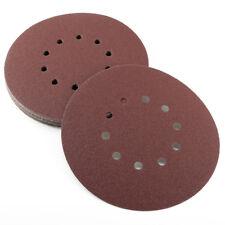 Disco de lijar 225mm 25pcs Disco Redondo con velcro 10 Orificios P40 a P180
