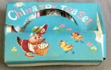 Vintage Child's China Toy Tea Set with box 10 pieces
