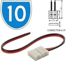 10x Kanlux Electrical 2A Cable Joiner 2 Pin Connector For LED Strip Light Line