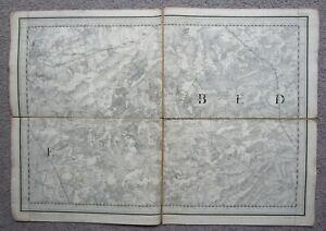 1865 Ordnance Survey MAP NORTHAMPTON Harrold Castle Ashby Biddenham Olney Ashton