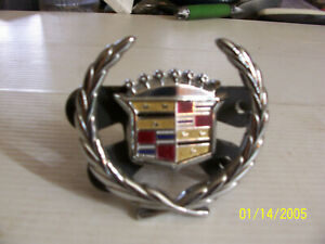 Cadillac Grill Emblem Metal USED OEM 1994 1996 DEVILLE 1976 1985 1995  ELDORADO