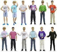 13 items=10Sets Clothes Outfits Top Shirt + 3 Shoes For 12 inch Boy Friend Doll