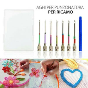 Pen Set Poking Stitching Punch Needle Kit Sewing Tools Embroidery DIY Crafts AU