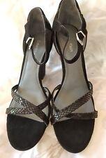 Calvin Klein Camila E5136 black velvet heels size 7.5