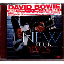 David BOWIE New killer star 3-track jewel case DVD MAXI single FRENCH STICKER
