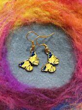 Beautiful Boho Butterfly Earrings Yellow