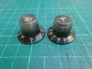 1960's Japanese guitar tone knobs x 2 commodore? - used