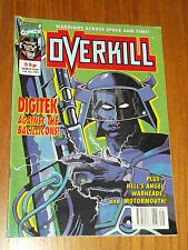 OVERKILL #7 MARVEL BRITISH MAGAZINE 17 JULY 1992 DIGITEK WARHEADS HELLS ANGEL^