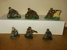 6 anciens petits soldats en composition, composite - DC DOMAGE & COMPAGNIE