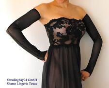 Abendhandschuhe Lange Handschuhe Schwarz MESH O/S Transparent Abendkleid Gothic