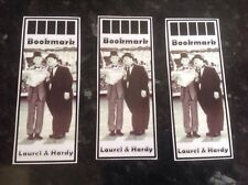 bookmarks set x 3 encourage reading gift laurel and hardy