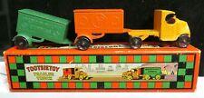 Tootsietoy RARE #4670 Mack Truck & 2 Trailers Set & Original Box Nice Condition