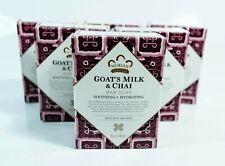 6 bars Nubian Heritage Goat'S Milk & Chai Bar Soap Soothing & Hydrating 5 oz